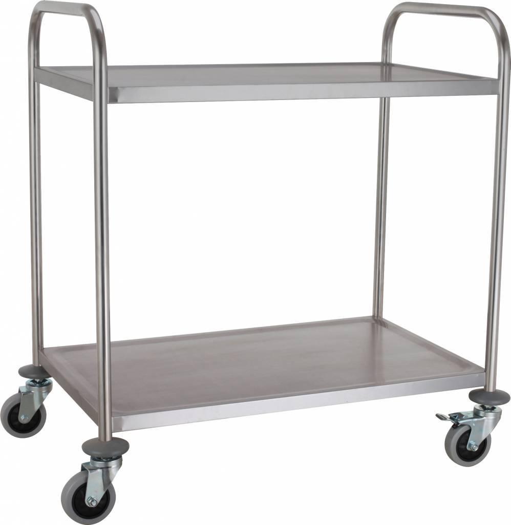 Wózek kelnerski skręcany 2 półkowy 850x520x(H)950mm