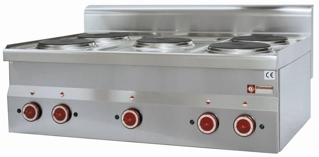 Kuchnia elektryczna nastawna 5 palników 10000W