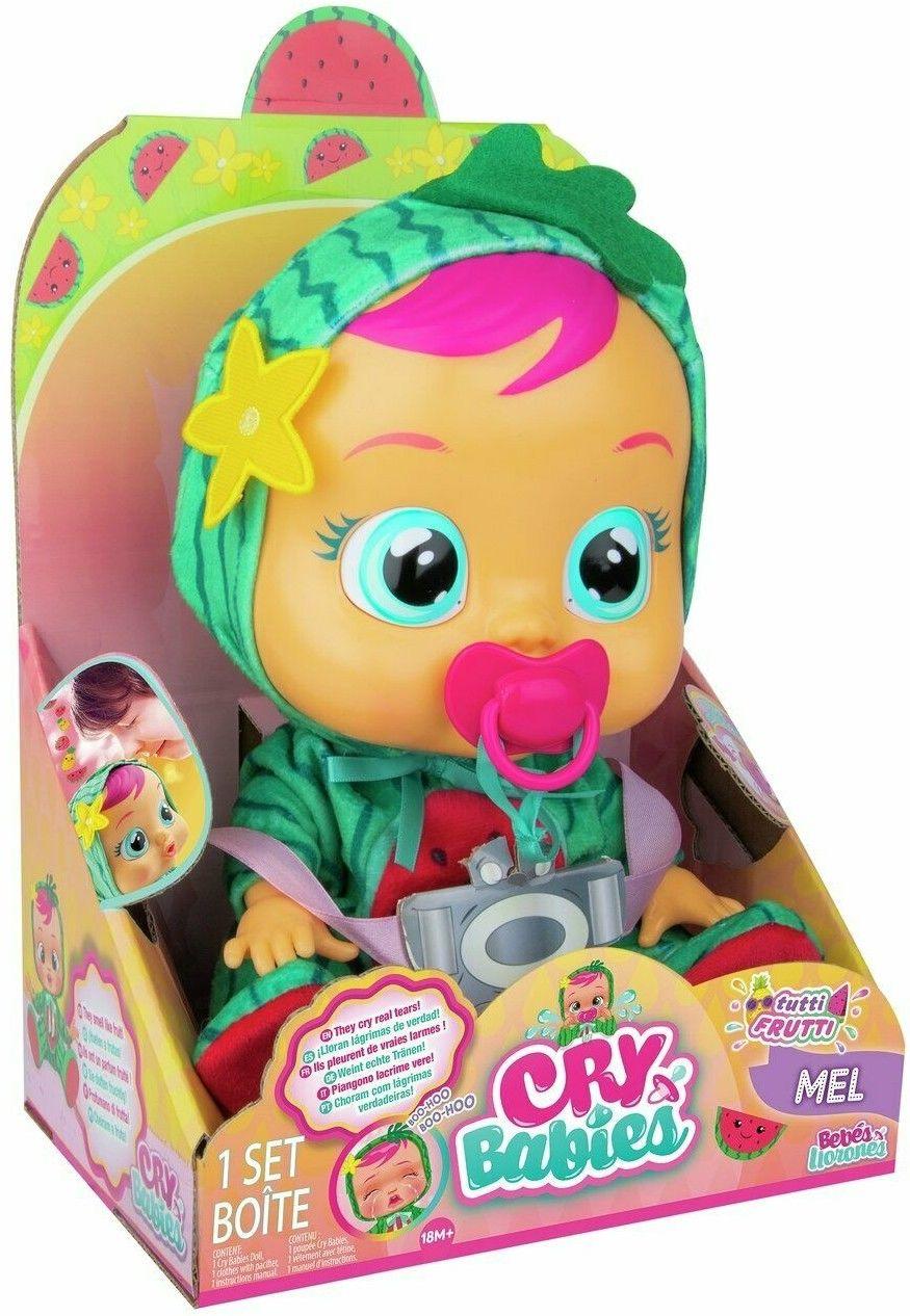 IMC Toys Cry Babies - Płacząca lalka bobas Tutti Frutti Mel 93805