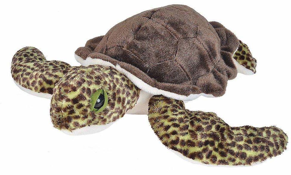 Wild Republic Pluszowa miękka zabawka z żółwiem morskim, przytulanki zabawki, prezenty dla dzieci 30 cm