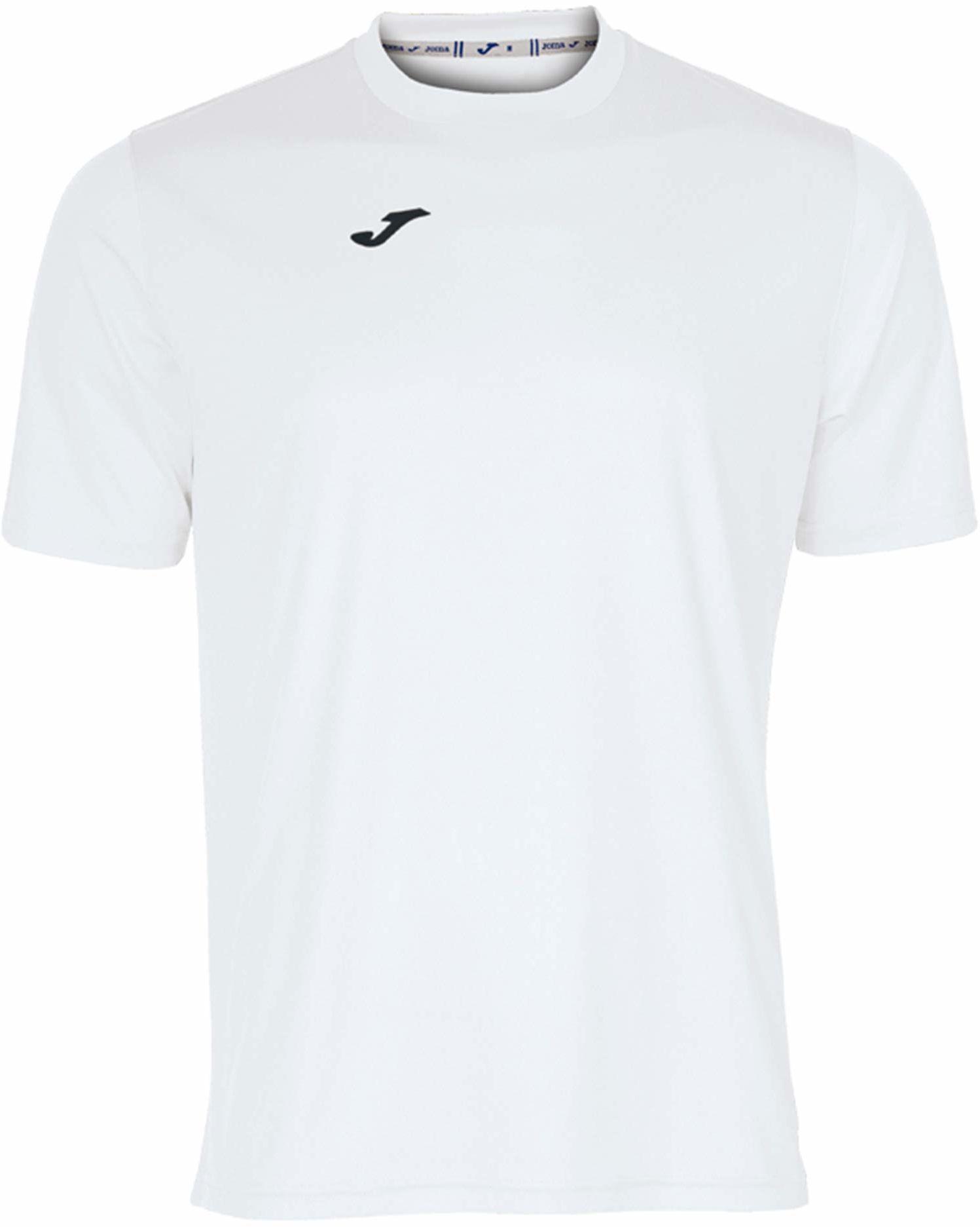Joma męska koszulka 100052.200 Joma 100052.200 z krótkim rękawem - biały/biały, 2X-mały Biały/biały S