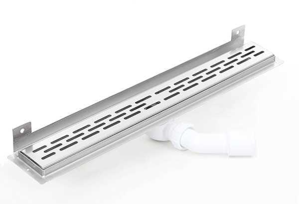 Kesmet Wall Silver Stripes odpływ ścienny 1100KWF_p 1100mm (syfon plastikowy)