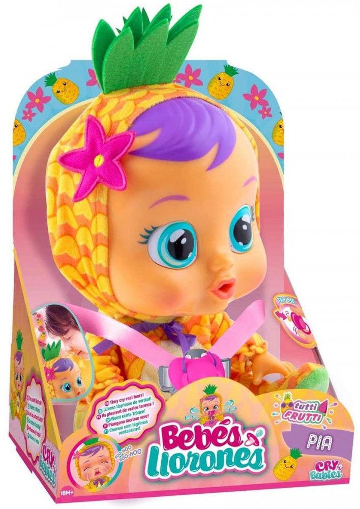 IMC Toys Cry Babies - Płacząca lalka bobas Tutti Frutti Pia 93829