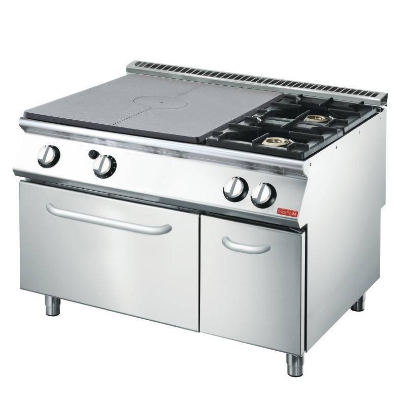 Kuchnia gazowa 2 palnikowa z płytą grzewczą i piekarnikiem gaz. 25400W