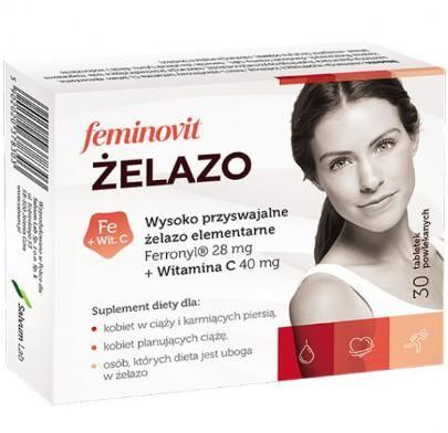 Feminovit Żelazo 30 tabletek