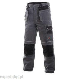 Spodnie ocieplane do pasa ORION w kolorze czarno-szarym