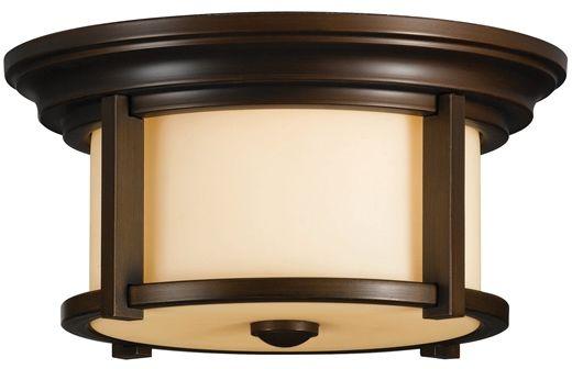 Plafon Merrill FE/MERRILL/F Feiss brązowa oprawa w klasycznym stylu