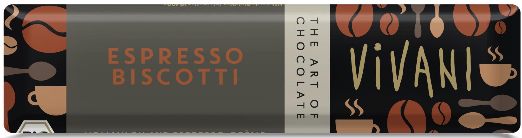 Baton espresso z herbatnikami bio 40 g - vivani