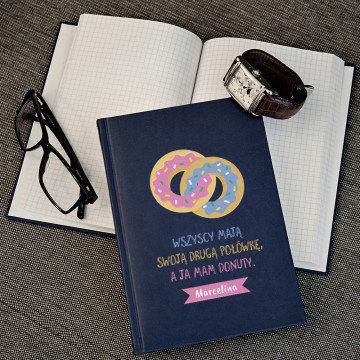 Donuty - notatnik A5 z nadrukiem