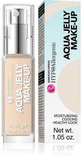 HypoAllergenic Aqua Jelly Make-Up hypoalergiczny podkład nawilżająco-matujący o konsystencji galaretki 02 Light Sand Beige 30g