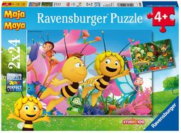 Ravensburger Puzzle dziecięce 09093 - Mała pszczoła Maja - 2 x 24 części