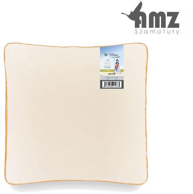 Poduszka puchowa AMZ Mr. Pillow Puch 60%, Rozmiar - 40x40, Kolor - różowy, Poduszka - 1-komorowa NAJLEPSZA CENA, DARMOWA DOSTAWA