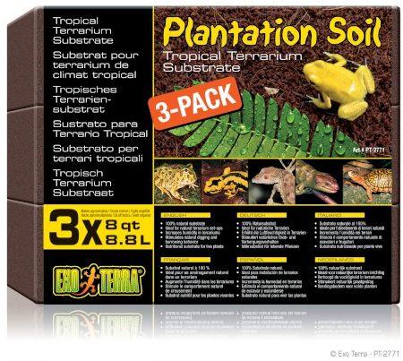Exo-Terra Podłoże Plantation Soil 3-pack 3x8,8L