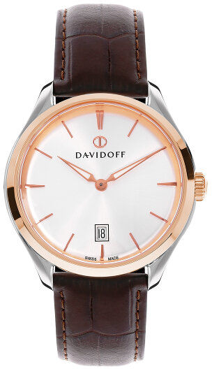 Davidoff Essentials No. 1 Zegarek kwarcowy ze stali nierdzewnej silber-rosegold