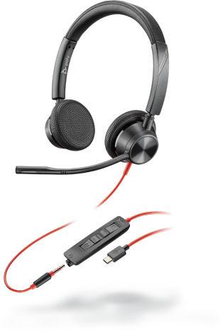 POLY Blackwire 3325 Zestaw słuchawkowy Opaska na głowę Złącze 3,5