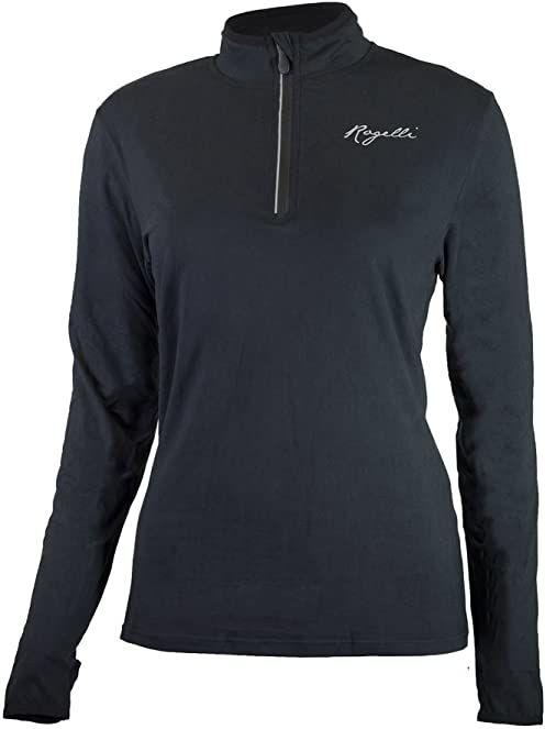 Rogelli Damska koszulka do biegania Carina 2.0, czarna, XL