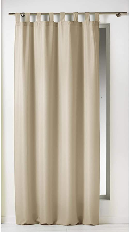 Douceur d ''Interieur Essentiel, zasłona ze szlufkami, poliester 140 x 260 cm, ceramika, płótno, 140 x 2 x 240 cm