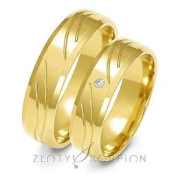 Obrączki ślubne Złoty Skorpion  wzór Au-A123