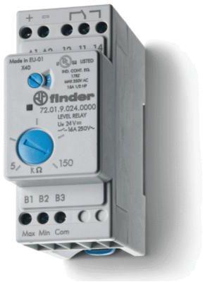 Przekaźnik nadzorczy 1CO 230...240V AC, kontrola poziomu cieczy, nastawna czułość 72-01-8-240-0000