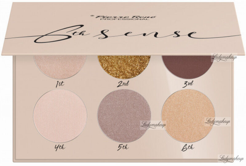 Pierre René - 6TH SENSE - EYESHADOW PALETTE - Paleta cieni do powiek - No. 01 - Golden River