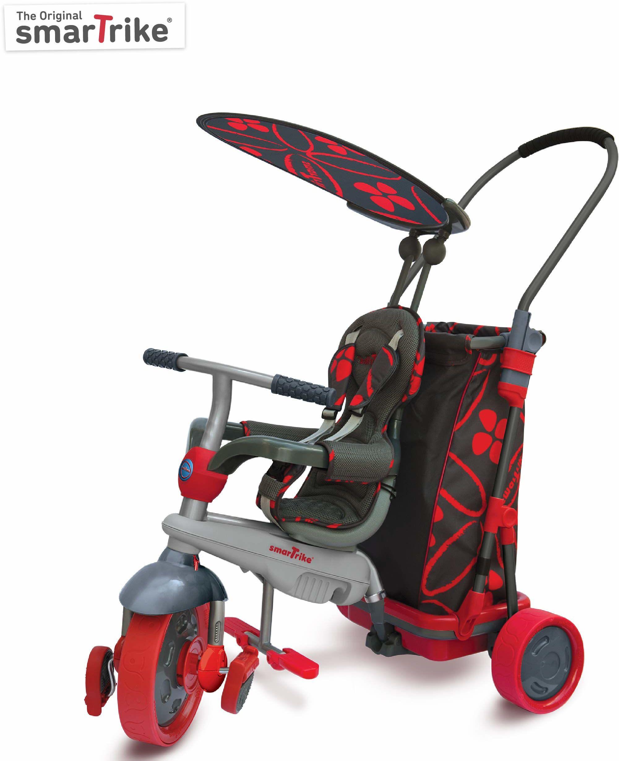 Trzykołowy rower dziecięcy Smart Trike & Go  czerwony/czarny