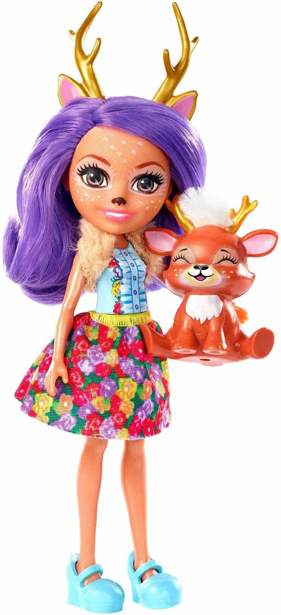Enchantimals FXM75  sarenki Danessa Deer Lalka i przyjaciel zwierząt Sprint
