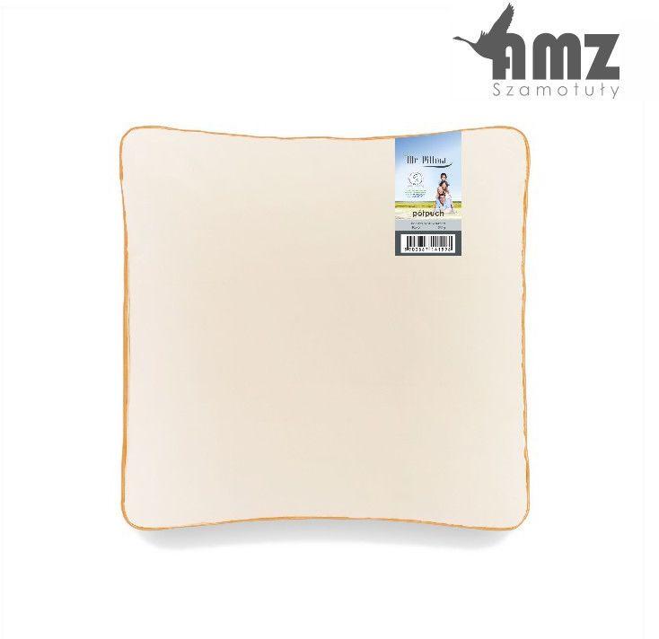 Poduszka półpuchowa AMZ Mr. Pillow Półpuch gęsi 5%, Rozmiar - 40x40, Kolor - kremowy, Poduszka - 1-komorowa NAJLEPSZA CENA, DARMOWA DOSTAWA