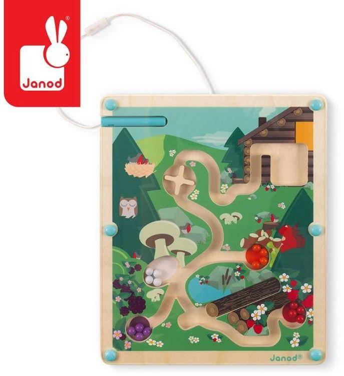 Magnetyczny labirynt Las J05311-Janod, zabawki edukacyjne dla dzieci