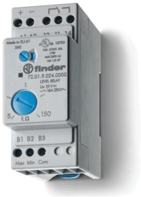 Przekaźnik nadzorczy 1CO 24V DC, kontrola poziomu cieczy, nastawna czułość 72-01-9-024-0000