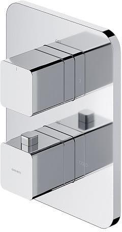 OMNIRES Bateria wannowo-prysznicowa, podtynkowa, termostatyczna, solo Parma chrom PM7436CR