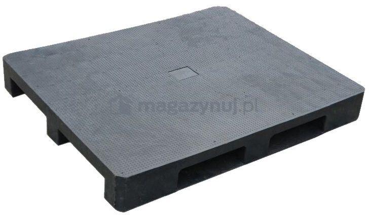 Paleta plastikowa ISO 1200x1000 mm z płozami, powierzchnia antypoślizgowa (kolor czarny)