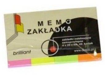Zakładki samoprzylepne indeksujące Brilliant Dalpo, 20 x 50 mm, 4 kolory po 40 kartek -  Rabaty  Porady  Hurt  Wyceny   sklep@solokolos.pl   tel.(34)366-72-72