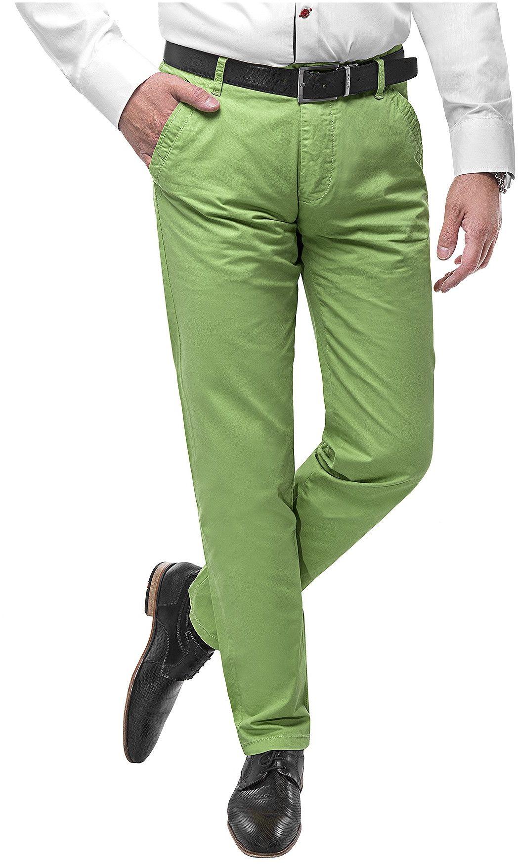 Spodnie męskie chinosy -SB512- zielony