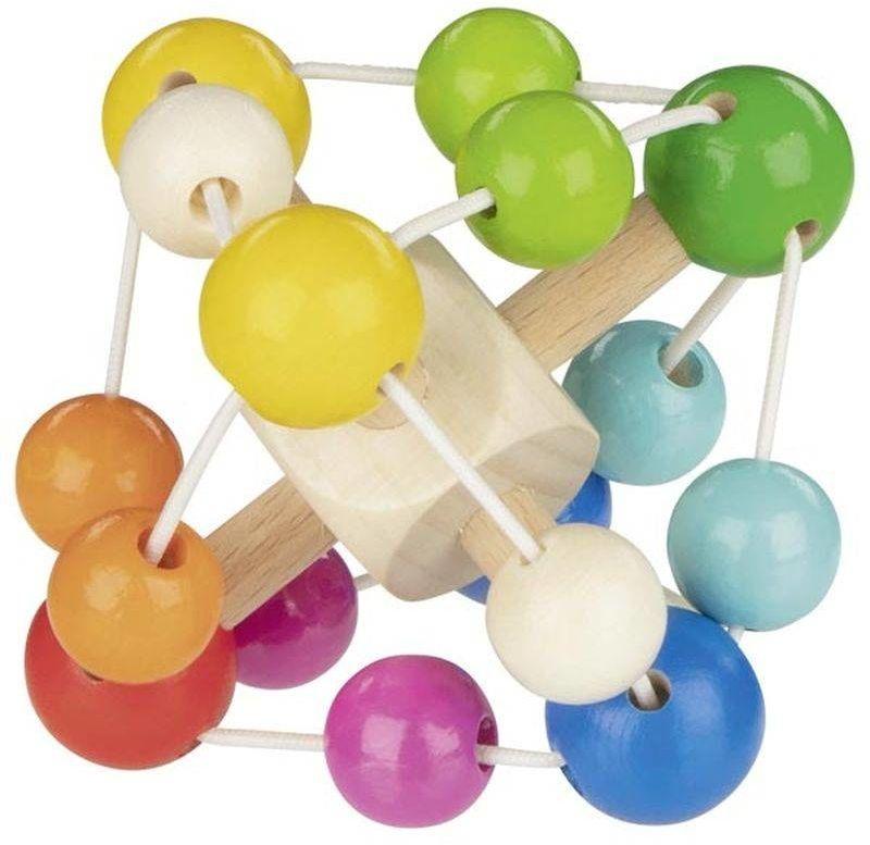 Elastyczna bryła dla maluchów grzechotka Tęcza 765430-Goki, zabawki dla najmłodszych