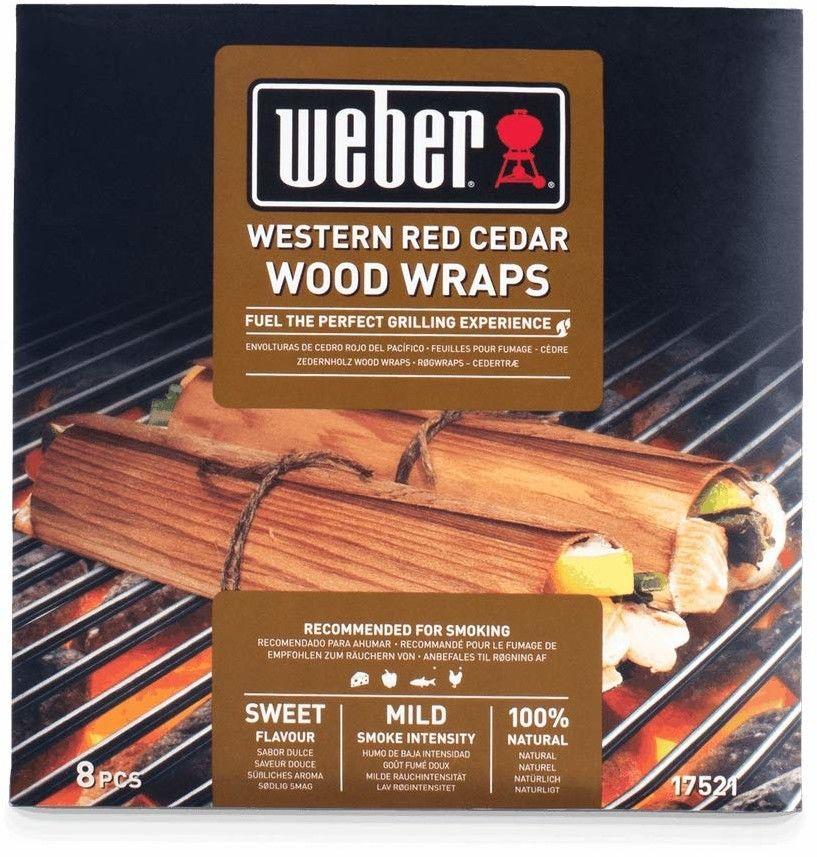 Papier cedrowy Wood Wraps do wędzenia 8 szt. Weber (17521) --- CERTYFIKOWANY PARTNER Weber WORLD