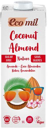 Napój Kokosowy z Migdałami bez dodatku cukru BIO 1L - Ecomil