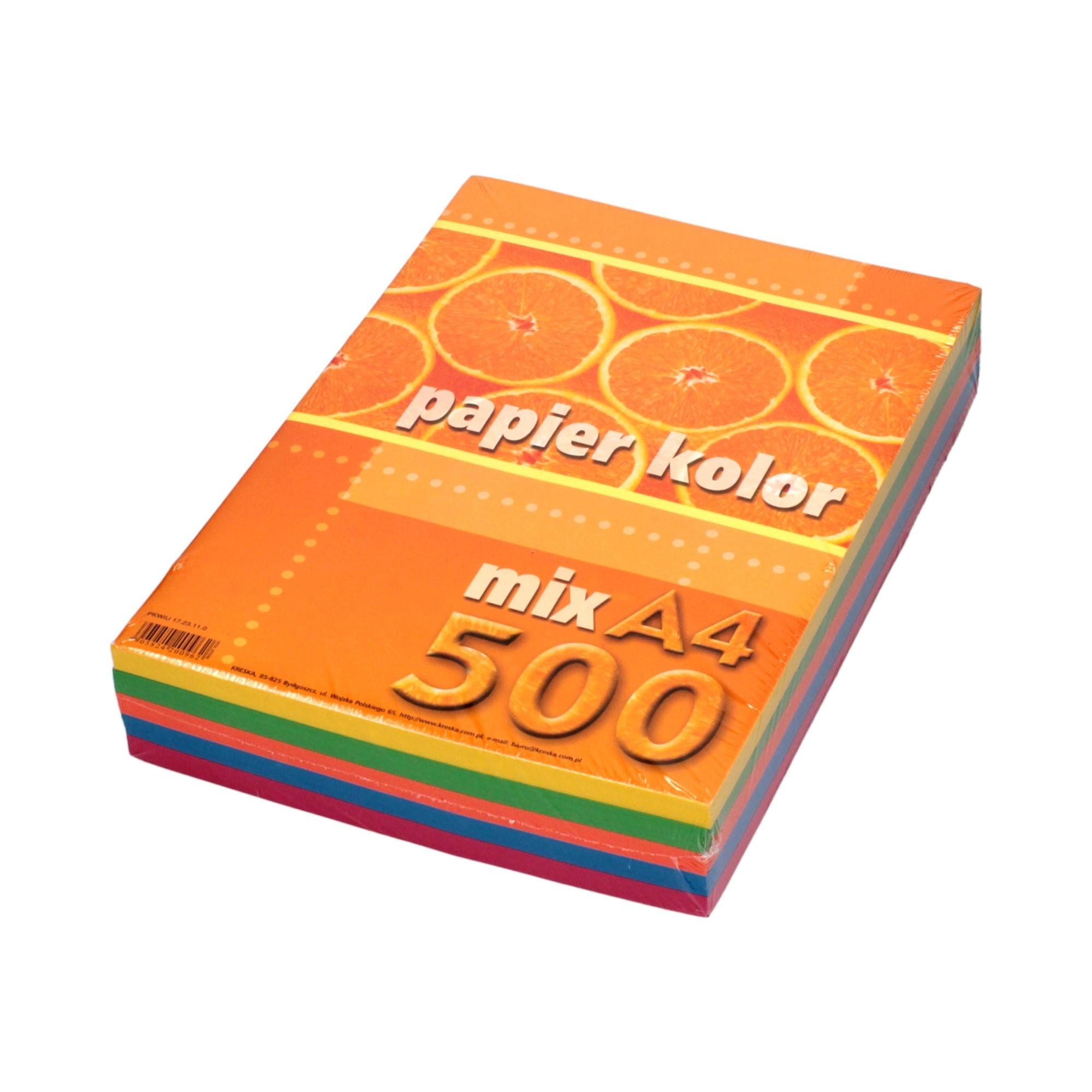 Papier ksero A4 80g mix Kreska (500)