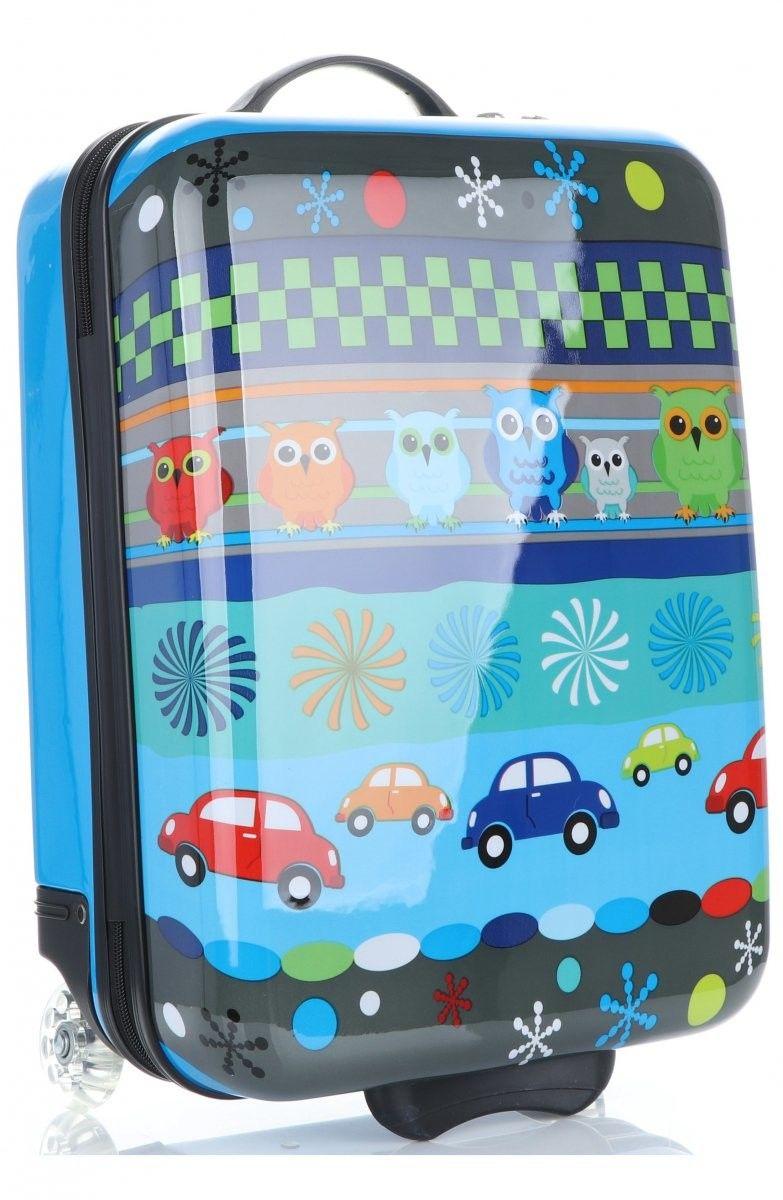 Oryginalne Walizki Kabinówki Dla Dzieci z motywem sowy Snowball Niebieskie (kolory)