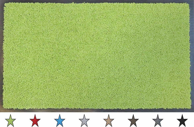 """oKu-Tex Wycieraczka mata zatrzymująca brud """"Eco-Clean"""" zielona guma z recyklingu do wnętrz wejście / drzwi wejściowe / klatka schodowa / korytarz antypoślizgowa 40 x 60 cm"""