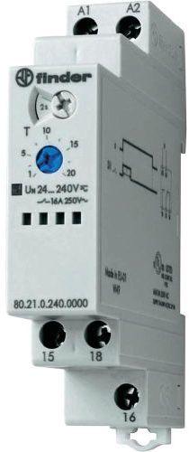 Przekaźnik czasowy 1CO 16A 24-240V AC/DC, Funkcja DI: opóźnione rozłączanie 80.21.0.240.0000