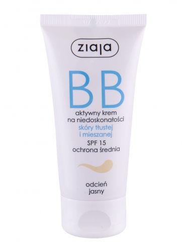 Ziaja BB Cream Oily and Mixed Skin SPF15 krem bb 50 ml dla kobiet Light