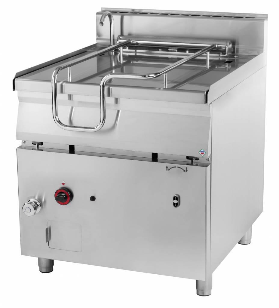 Patelnia gazowa z uchylaniem automatycznym 80L 22000W 800x900x(H)900mm