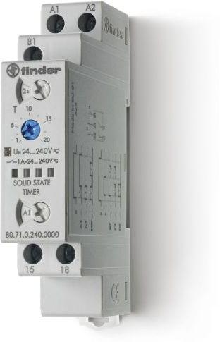 Przekaźnik czasowy 1NO 1A 24-240V AC/DC, SSR, uniwersalny (AI, DI, SW, BE, CE, DE) 80.71.0.240.0000