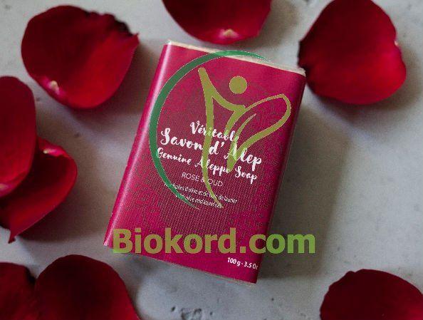Mydło Alep Róża & Oud, 100g