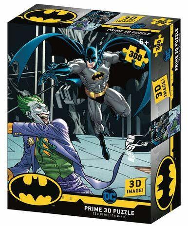 Prime 3D - Redstring-Puzzle DC Comics Batman vs Joker 300 części (efekt 3D)