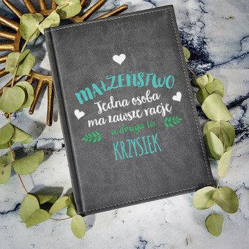Małżeństwo - notatnik A5 z nadrukiem