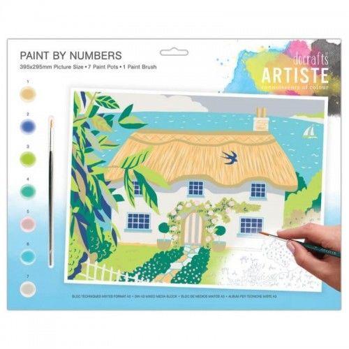 Kreatywny zestaw do malowania po numerach Wiejski Dom
