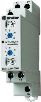 Przekaźnik czasowy 1CO 16A 12-240V AC/DC, Funkcja LI,LE: praca cykliczna asymetryczna 80.91.0.240.0000