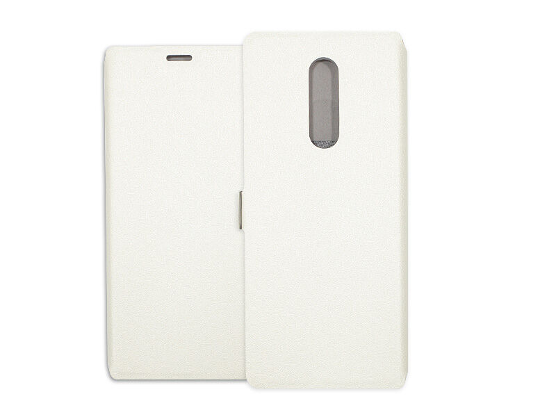 Sony Xperia 1 - etui na telefon Wallet Book - biały