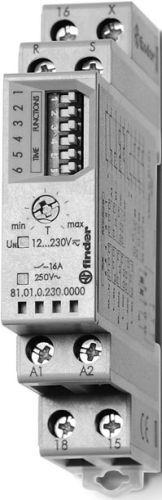 Przekaźnik czasowy 1CO 16A, wielofunkcyjny AI, DI, SW, SP, BE, DE, EEb 81.01.0.230.0000